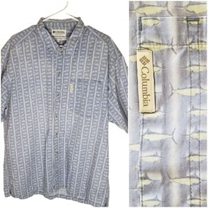 Columbia X-large Swordfish Button Front Shirt